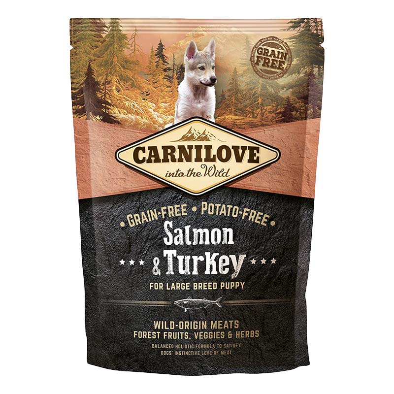 Carnilove Dog Salmon & Turkey for Large Breed Puppy 1,5 kg
