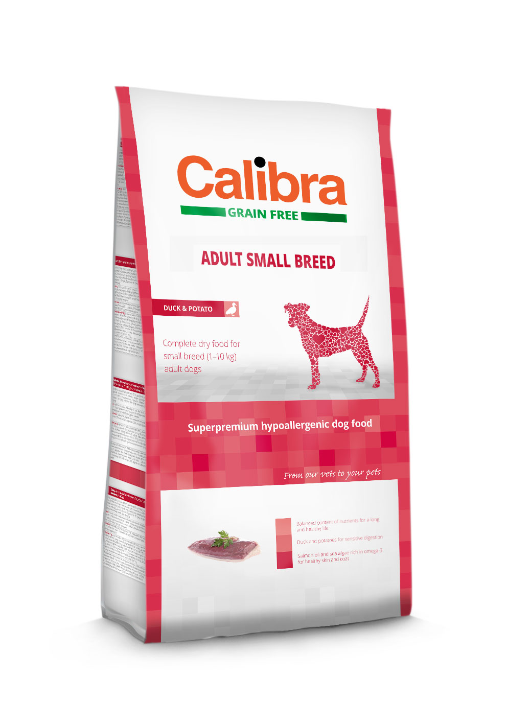 Calibra dog GF Adult Small Breed Duck 2 kg