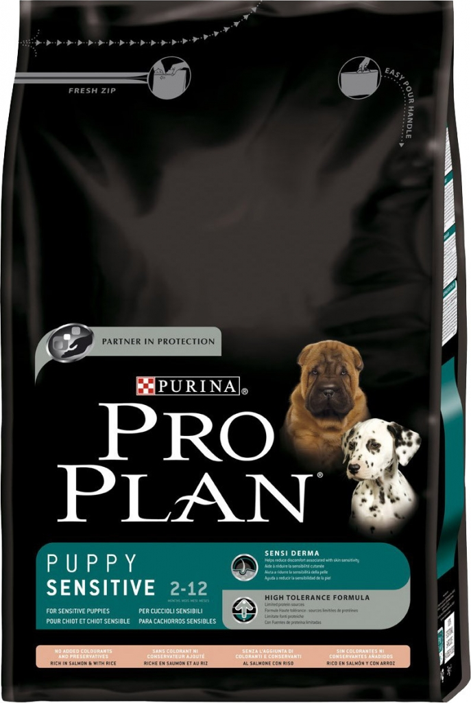 Fotografie Purina Pro Plan dog Puppy Sensitive Salmon 3 kg