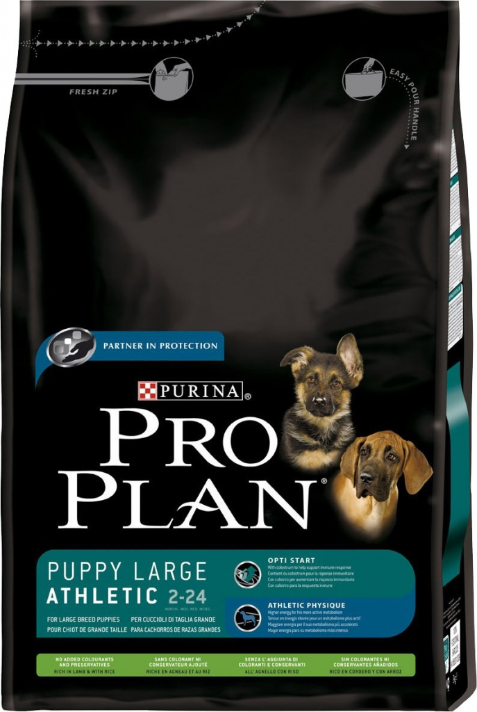 Fotografie Purina Pro Plan dog Puppy Large Breed Athletic 3 kg