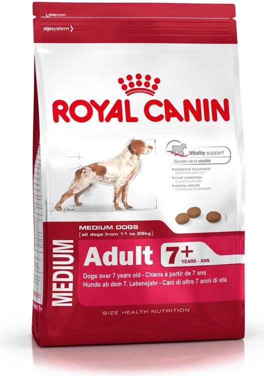 Royal Canin pes Medium Adult 7+ 4 kg
