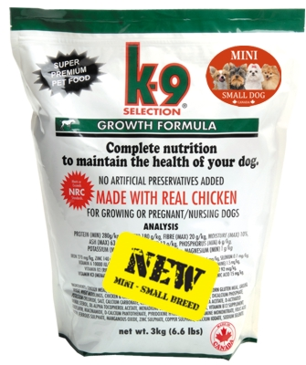 Fotografie K-9 Growth Small Breed 3 kg