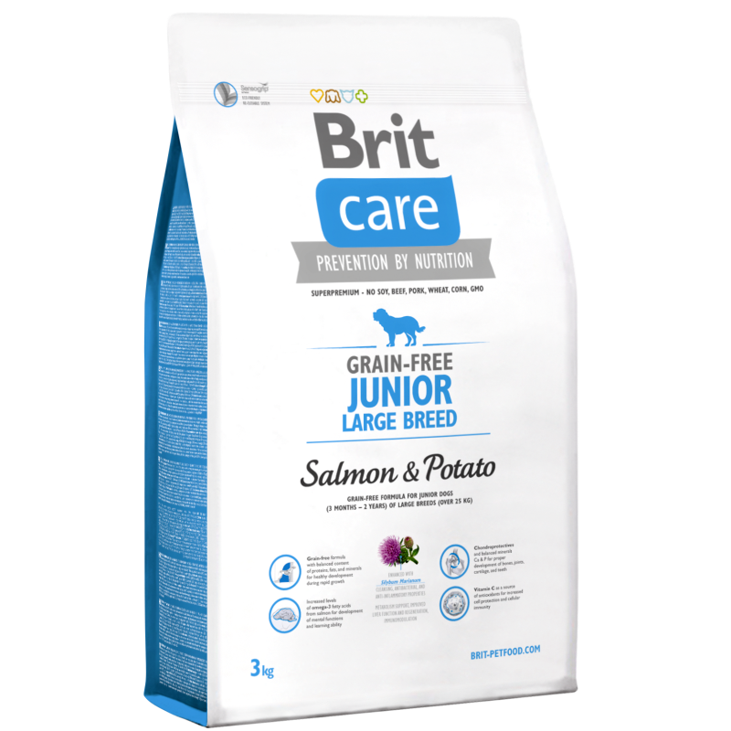 Brit Care Grain-free Junior Large Breed Salmon & Potato 3 kg