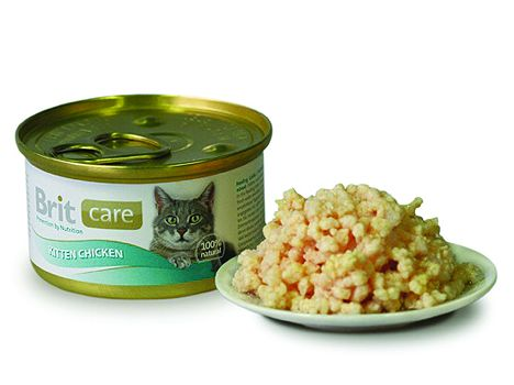 Brit Care Cat konzerva Kitten Kuřecí Prsa 80 g