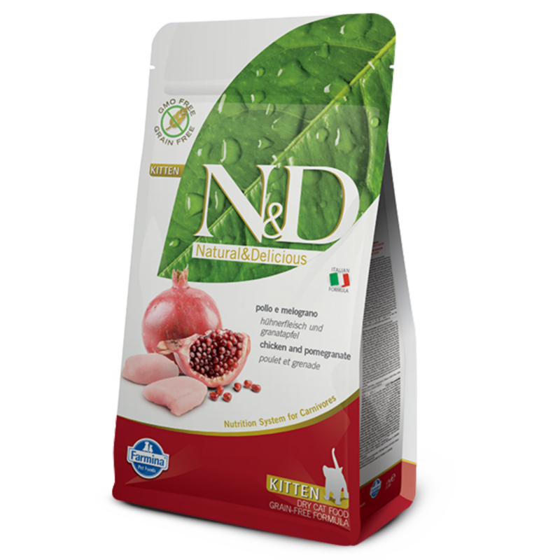 N&D Grain Free cat Kitten Chicken & Pomegranate 10 kg