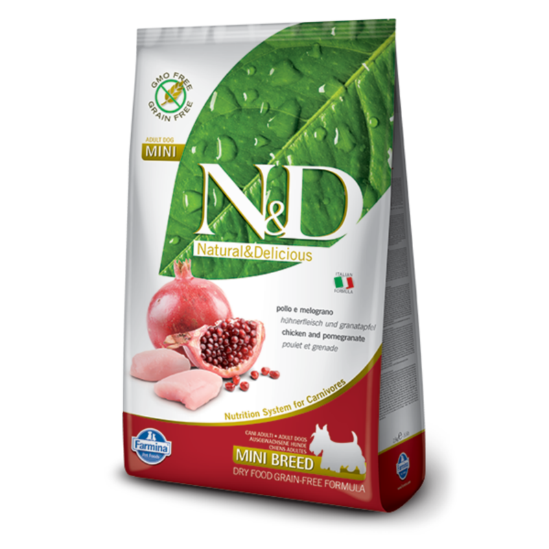 N&D Grain Free dog Adult Mini Chicken & Pomegranate 800 g