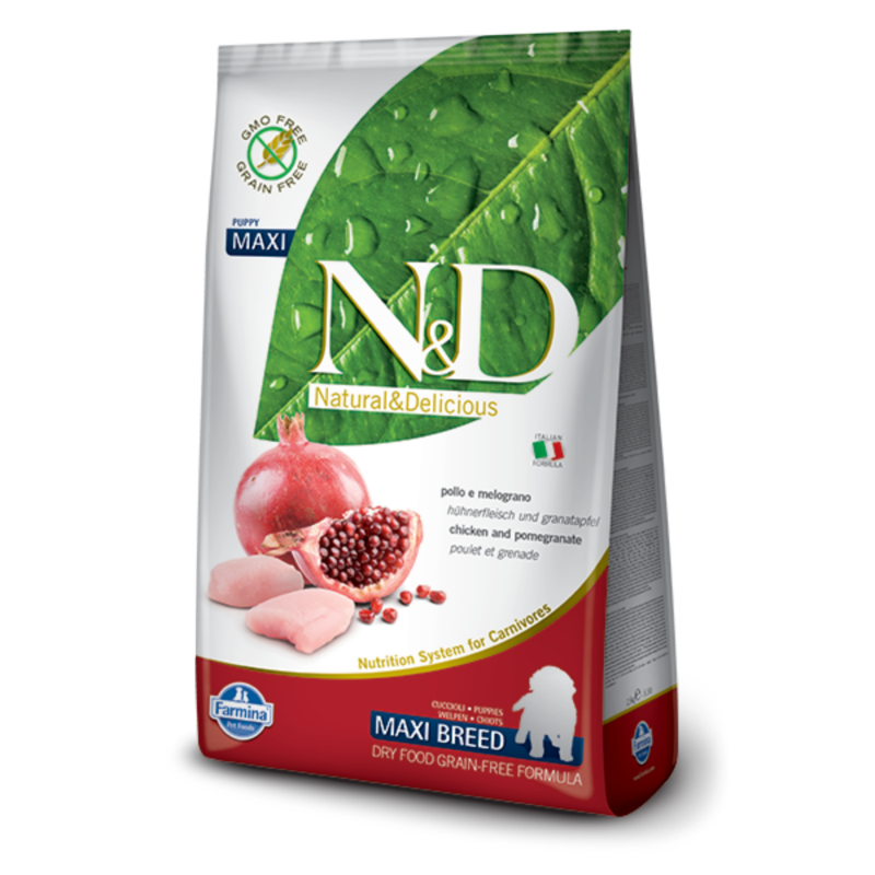 N&D Grain Free dog Puppy Maxi Chicken & Pomegranate 2,5 kg