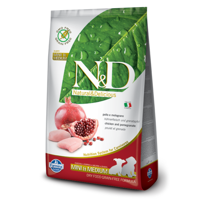 N&D Grain Free dog Puppy S/M Chicken & Pomegranate 800 g