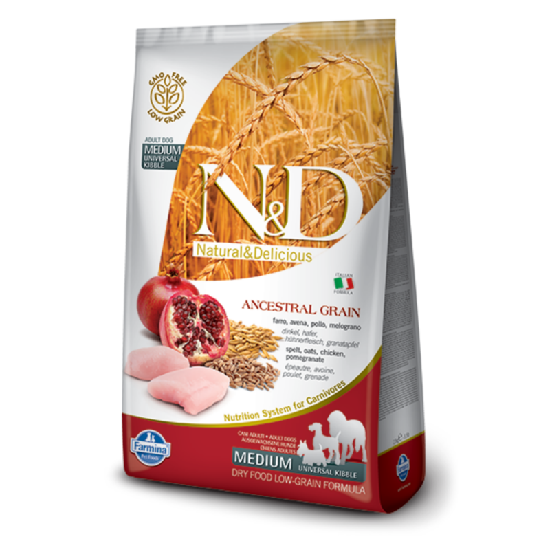 N&D Low Grain dog Adult Chicken & Pomegranate 800 g