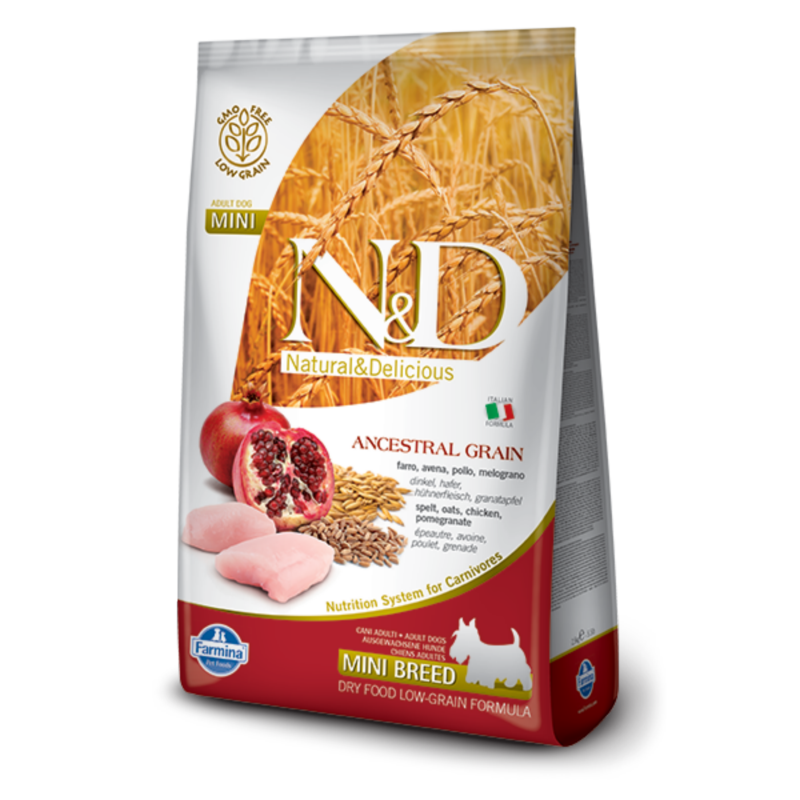 N&D Low Grain dog Adult Mini Chicken & Pomegranate 800 g