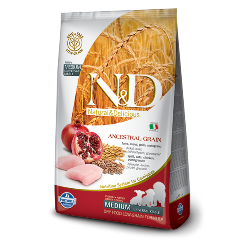 N&D Low Grain dog Puppy Chicken & Pomegranate 800 g