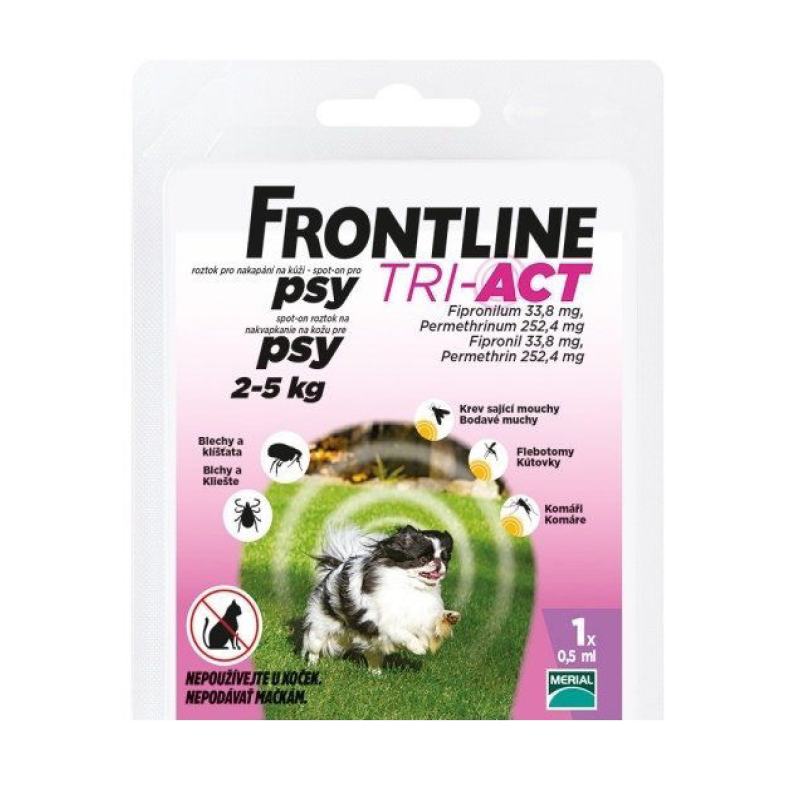Fotografie Frontline Tri-Act psi 2-5kg spot-on 1x1 pipeta