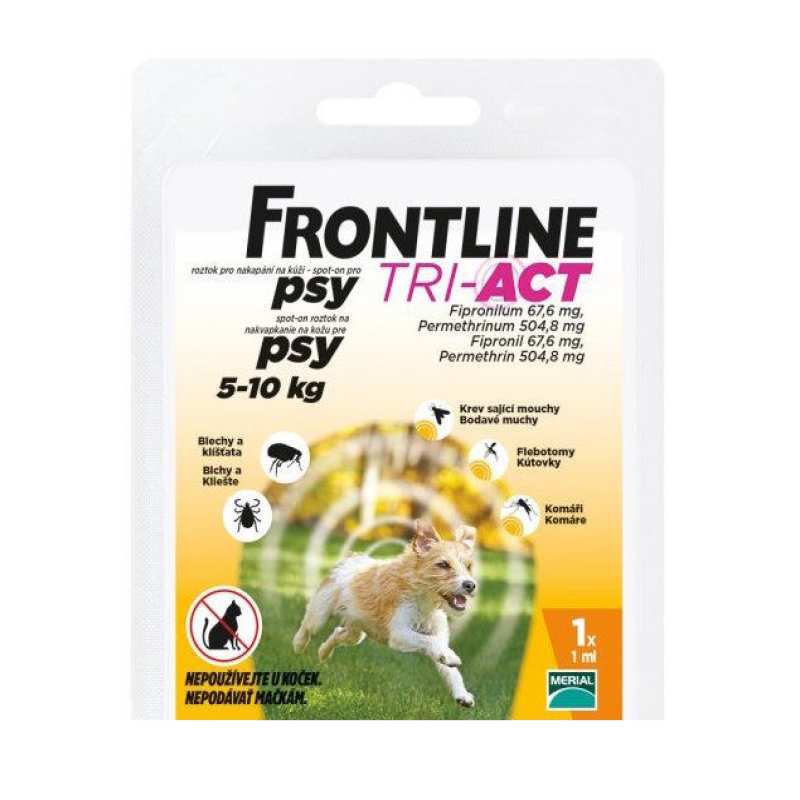 Fotografie Frontline Tri-Act psi 5-10kg spot-on 1x1 pipeta