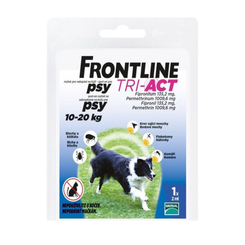 Fotografie Frontline Tri-Act psi 10-20kg spot-on 1x1pipeta