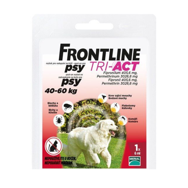 Frontline Tri-Act Dog Spot-on XL (40-60 kg) 1 pip
