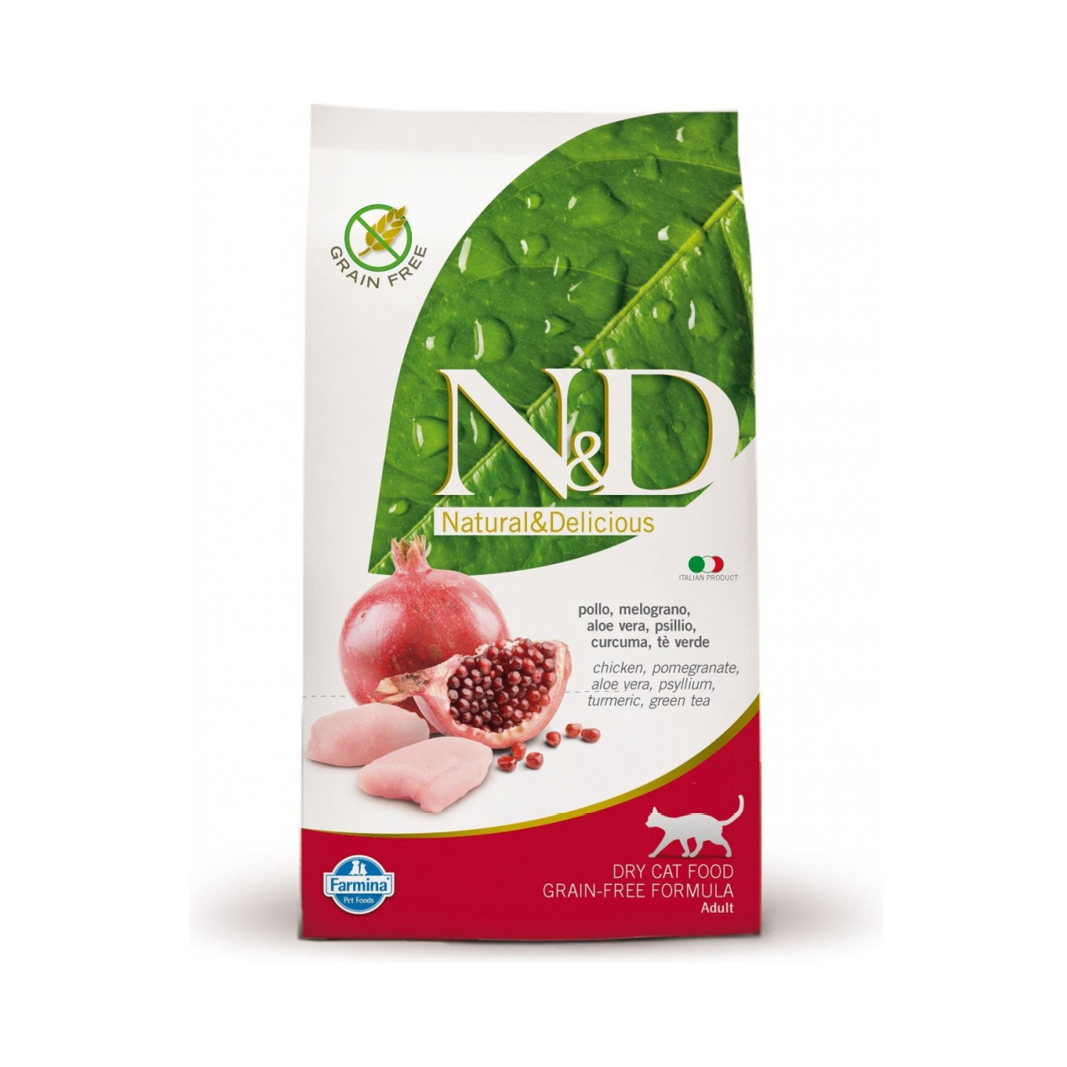 N&D Grain Free cat Neutered Chicken & Pomegranate 5 kg