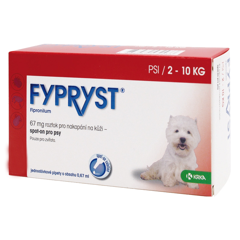 Krka Fypryst Spot-On Dog S/1x0,67ml (do 10 kg)