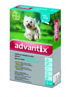 Bayer Advantix Spot-On Dog 1x1,0ml (4-10 kg)